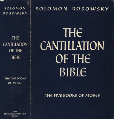 The Cantillation of the Bible