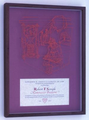 Benjamin Cardozo certificate