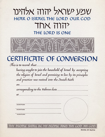 Conversion certificate