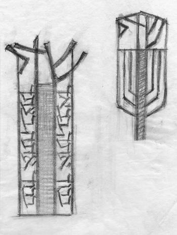 Mezuzzah sketches
