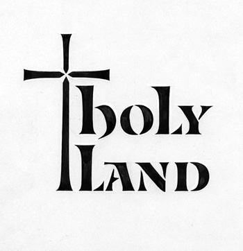 Holy Land stencil