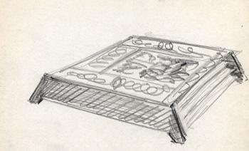 Seder plate sketch