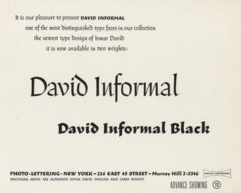 David Informal